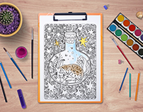 The tales of old forest - free coloring book