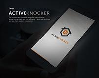Active Knocker App UI Design