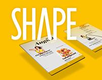 Shape Magazine layout
