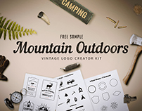 Freebie - Mountain Outdoor Vintage Logo Kit