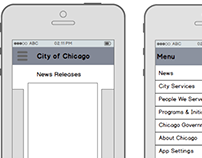 City of Chicago - Mobile Homepage Design