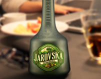 Coating green bottles for Jarovska