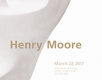 Henry Moore exhibition lecture poster