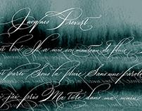 Jacques Prevert/Spenserian calligraphy