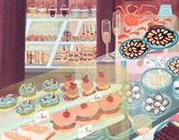 Food Market Illustration - Mercado de San Miguel