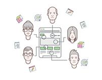 Collaboration Illustration (free psd)