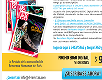 Email marketing suscripción revista digital ERGO