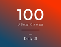 Daily UI - 100 UI Design Challenges