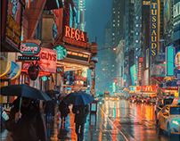 Evening at 42nd Street