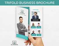 Trifold Business Brochure - PSD Template