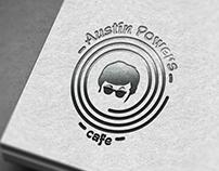 Logo design for cafe Austin Powers