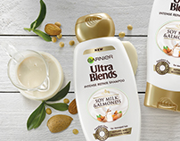 Product photography for Garnier Ultra Blends