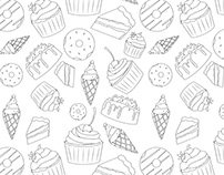 Sweets & Treats - Black & White
