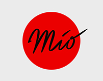 Mio. Branding of the panasian restaurant.