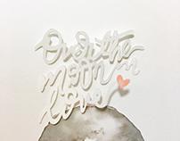 3D Paper lettering