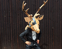 Jagermeister Deer head mask