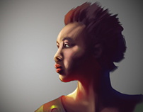 African lady Digital painting