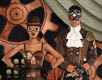 Steampunk Trade Show Display