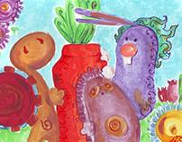 The Friends and The Carrot ...الأصدقاء و الجزرة
