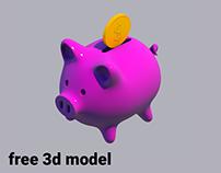 Piggybank - free 3D model