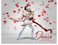 Dance photography template