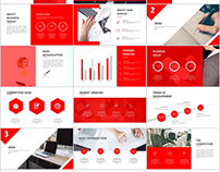 Best Red business Plan PowerPoint template