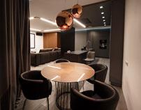 Monochrome apartment in Kiev