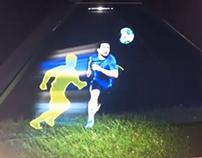 Adidas Boost  animation on Dreamoc Holographic display
