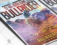 Bull Rider Flyer - PSD Template