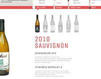 Slovenian winery Tomažič_webpage design
