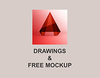 AutoCAD Drawings -- Free Mock-up included