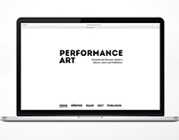 Website «Performance Art»