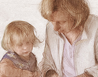 Drawing. Mother in Law and niece