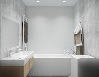 small bathroom #glarestucco #mosaic #anthracite