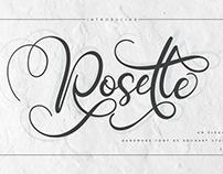 Rosette an Elegant handlettering font