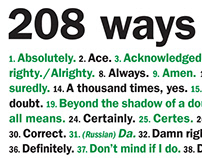 """208 ways to say """"Yes."""""""
