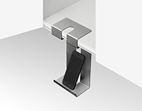 Dangle – A hanging phone stand for your kitchen.