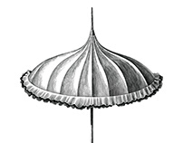 Vintage fashion umbrellas