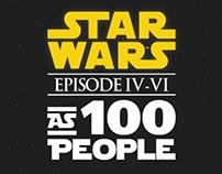 Star Wars as 100 people