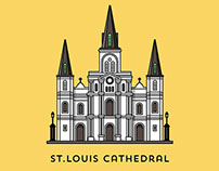 New Orleans Architecture Illustrations
