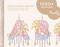 freebie #2 // Dreamcatcher Alphabet