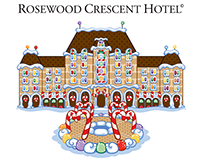 Holiday Illustration of the Rosewood Crescent Hotel