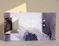 Pop Up Business Card for Artist Inga Hunter