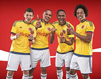 Coca Cola | Colombian Futbol team.