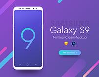 Samsung Galaxy S9 Minimal Mockup