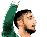 Gianluigi Donnarumma Vector Art