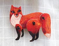 Brooch Fox