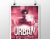 Urban Festival Flyer PSD Template
