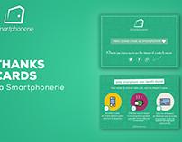 Thanks cards for La Smartphonerie