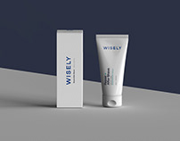 WISELY Aftershave Package Design
